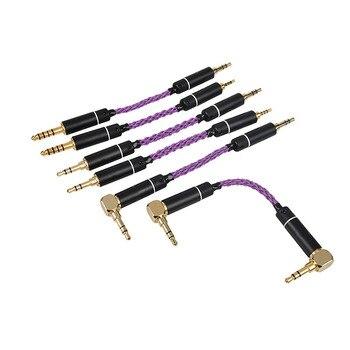 Cable adaptador de alta fidelidad OKCSC 2,5mm 4,4mm conector balanceado macho a macho 3,5mm Cable de Audio papá cobre plateado para auriculares reproductor de MP3