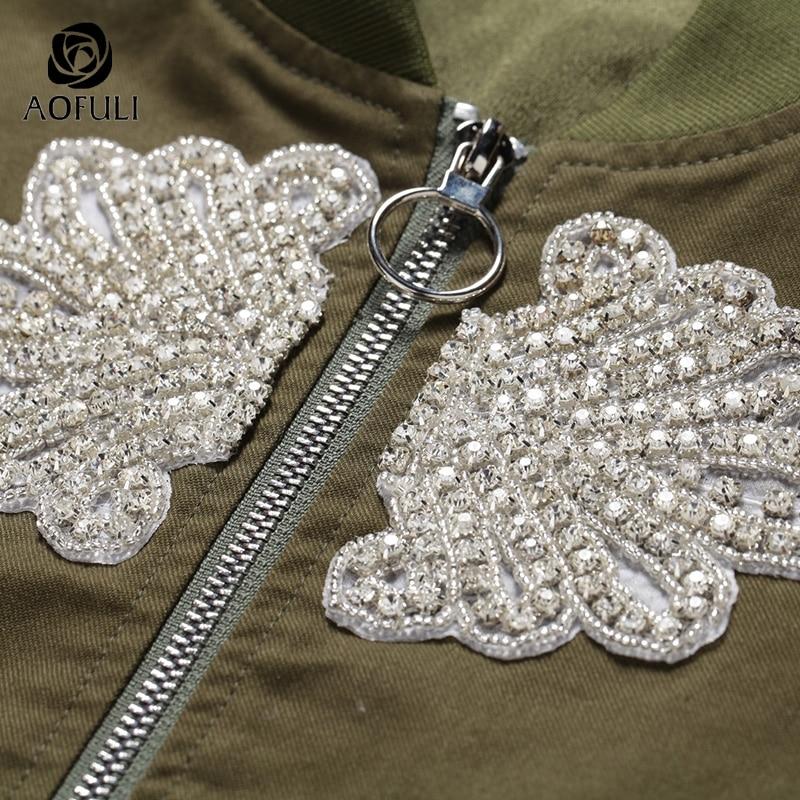 S Veste Coton Automne Glissière Hauts Jacket B6005 À Manteau Hiver Longues Vert Manches Green Diamants Army De Baguettes Nouveau Avec Dames 5xl Armée 2017 6wY7rq6