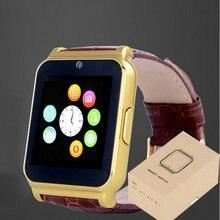 Heißer verkauf! Smartwatch W90 Bluetooth Sport Tragbare geräte Luxury Leather Geschäfts Armbanduhr Full View HD Bildschirm Für Android IOS
