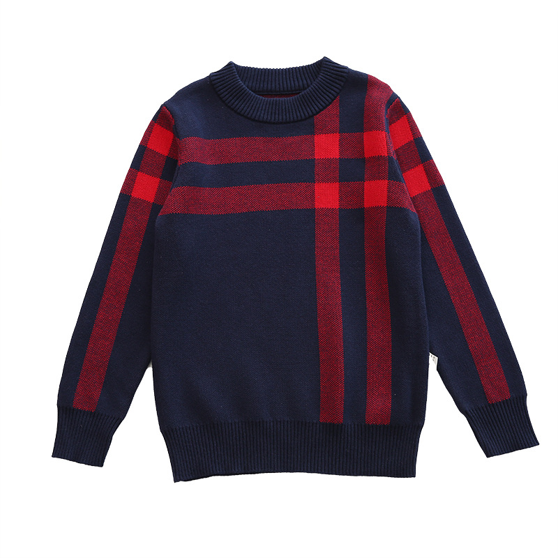 Winter Cotton products clothing Boy's Sweater O-Neck pullover Sweater  Kids clothes children's Sweater winter Keep warm 6
