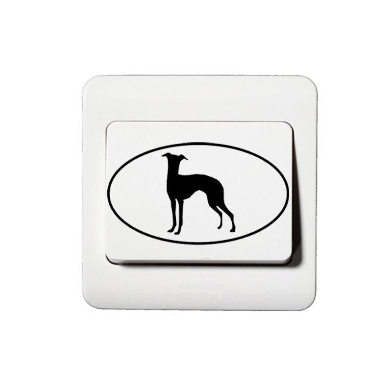 Italian Greyhound Dog Funny Vinyl Switch Stichers 2SS0138