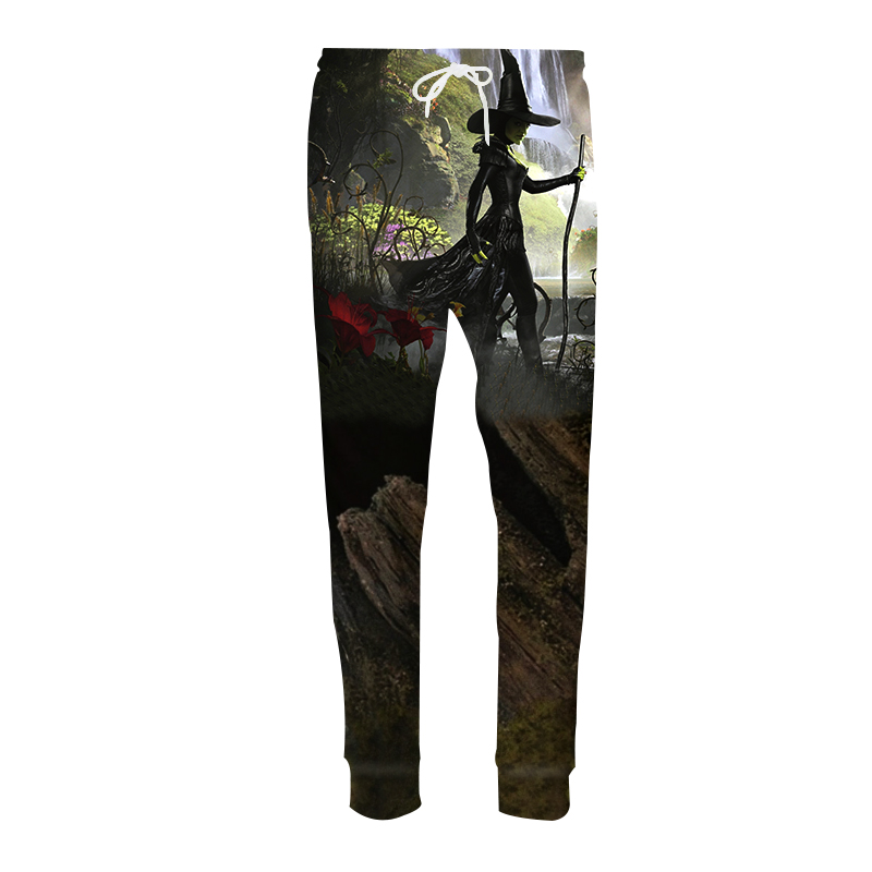 Fashion Casual Harem Pants Men Joggers Trousers Harajuku Funny Sexy Hat Witch 3D Print Sweat Pantalon Hip Hop Fitness Sweatpants