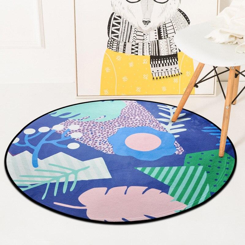 High Quality Creative Cartoon Leaves Round Carpet Rugs Home Decor Doormat Floor Mat For Living Room Bedroom Kids Room Carpet