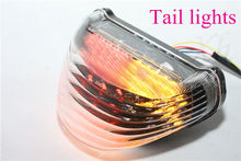 motorcycle parts Tail Brake Light Turn Signals for 2000-2005 Ninja ZX-12R ZX1200 clear