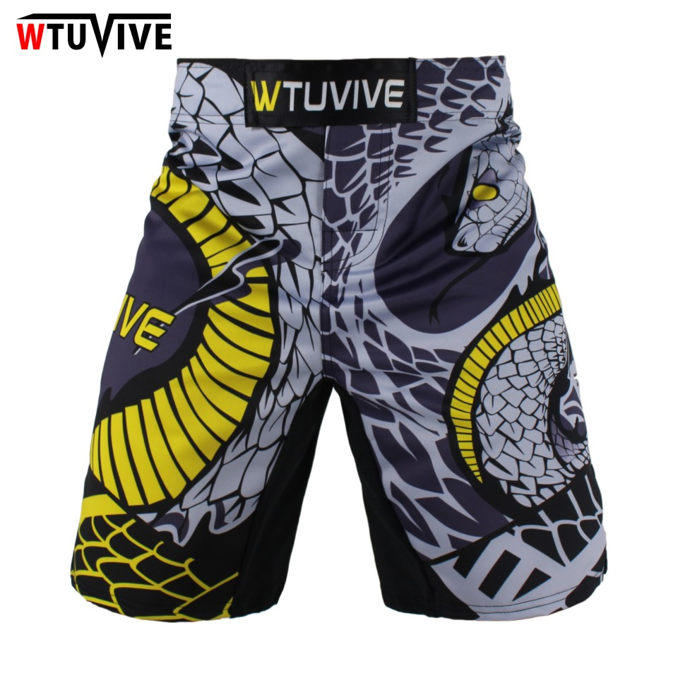 WTUVIVE MMA Boxing Fitness Cats Fighting Sanda Sports Shorts Loose High Quality shorts mma muay thai clothing mma in Boxing Trunks from Sports Entertainment