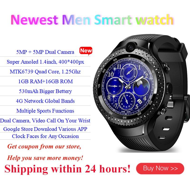 4G Intelligente della vigilanza degli uomini di Zeblaze Thor 4 Dual 5MP + 5MP Doppio della Macchina Fotografica di GPS Android Smartwatch Frequenza Cardiaca pk thor 4 pro allcall w2 w1 orologio