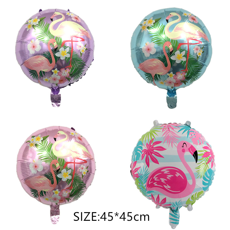50pcs/pack 45*45cm Flamingo foil balloons children classic toys Inflatable helium balloon birthday wedding balls party supplies