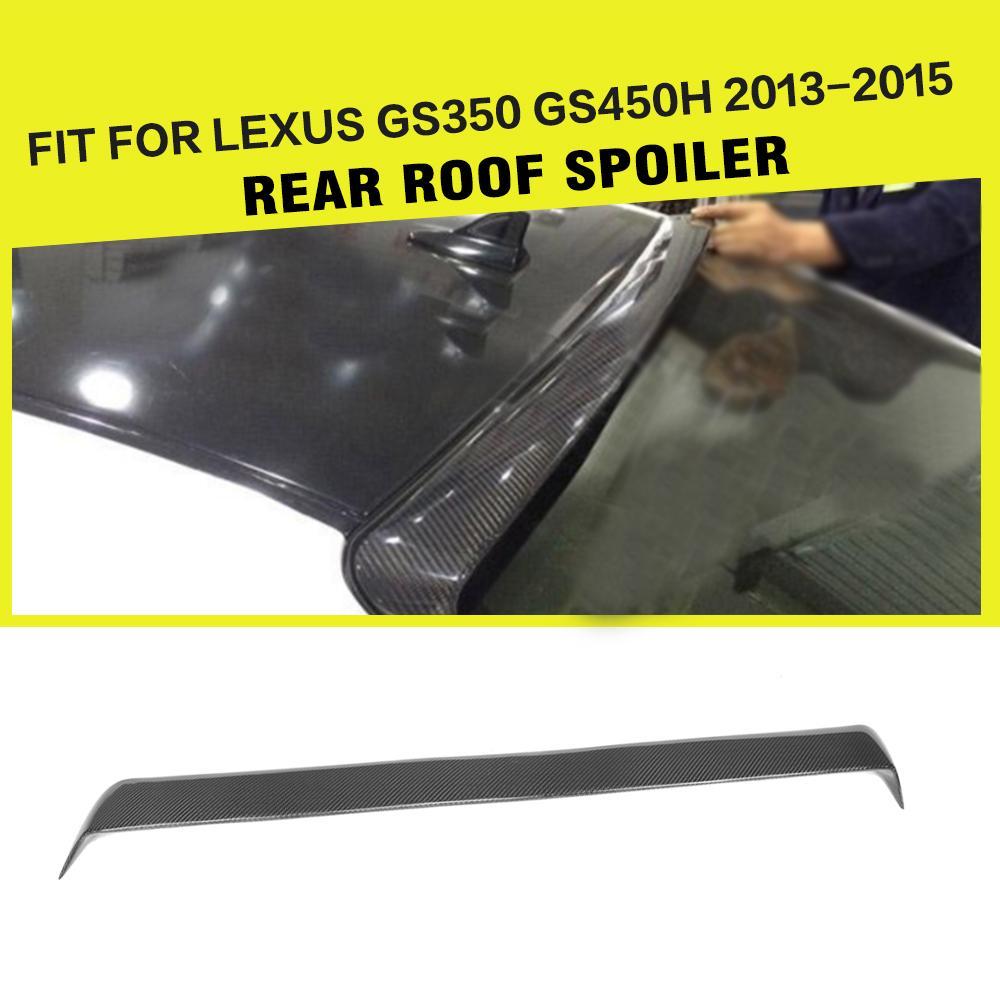 Carbon Fiber / FRP Rear Roof Spoiler Back Windshield Wing Lip for Lexus GS350 F Sport 2013 - 2015 Car StylingCarbon Fiber / FRP Rear Roof Spoiler Back Windshield Wing Lip for Lexus GS350 F Sport 2013 - 2015 Car Styling