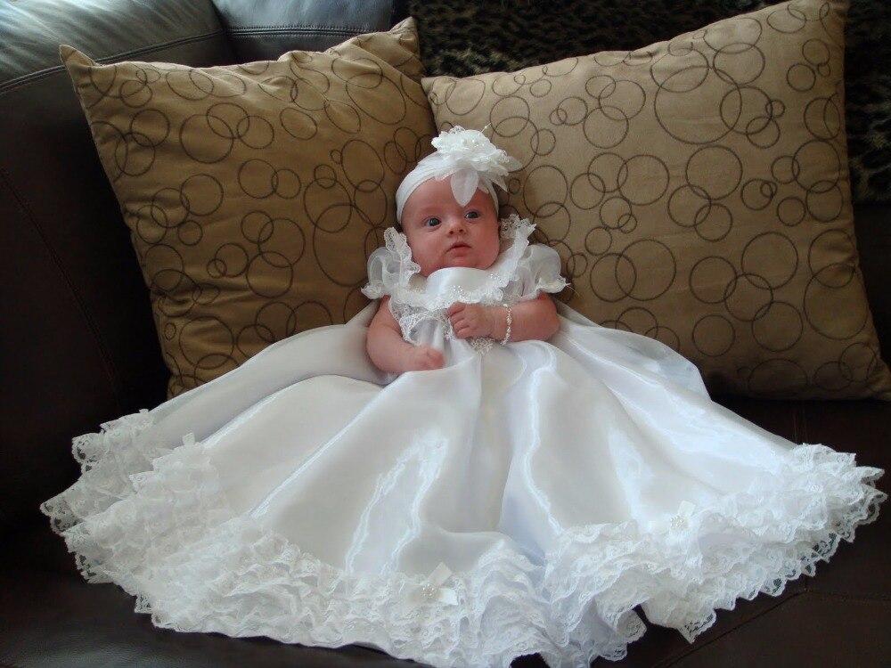 இ2018 New Baby Infant Handmade Christening Dress Baptism Gown Lace ...