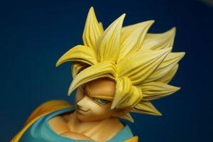 "Image 3 - BANPRESTO figura Original Master Stars Piece (MSP), 100%, Super Saiyan, de ""Dragon Ball Z"", Son Goku"
