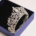 bride crown tiara wedding hair accessories white crystal circle full tiara for brides hair jewelry