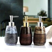 טבעי שרף נוזל סבון Dispenser יוקרה מותג הבארוק סגנון יד סבון Dispenser אמבטיה מטבח מקלחת ג ל לחץ משאבת בקבוק
