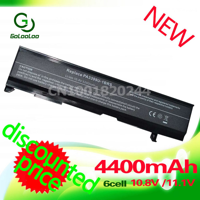 Golooloo bateria do portátil para toshiba pa3399u-1bas pa3399u-1brs pa3399u-2bas pa3399u-2brs pabas057 pabas076 satellite a100