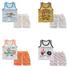 Купить с кэшбэком New Arrival Boys and Girls Summer Minions Pajamas Suits Kids Pyjamas Carton Sleepwear fashion PJS for 3-8Y kids Cartoon pajamas