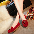 2016 Spring Candy Color Women Loafers Fringed Boat Shoes Metal Tassel Ballet Flats Slip on Shallow flat shoes Zapatos mujer