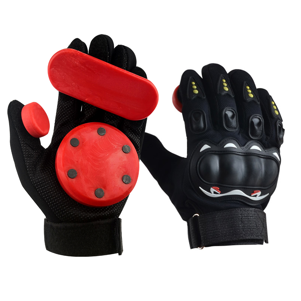 KUFUN Slide Gloves Fire Stone Flint Spark Longboard Skateboard Gloves Downhill Rush Protective Gear Slider Inline Roller Skate