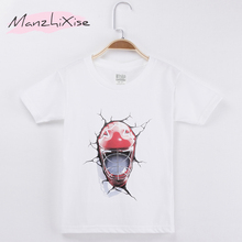 купить 2019 Summer Children Clothing Boys T shirt Football Design 100% Cotton 3d T-shirt For Kids Costume Baby Girl Clothes Tee Shirt по цене 571.2 рублей