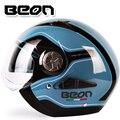 2014 nueva B216 BEON casco de la motocicleta Abrir Cara casco Doble lente capacete casco de motocross motocicleta ECE Aprobado seguro