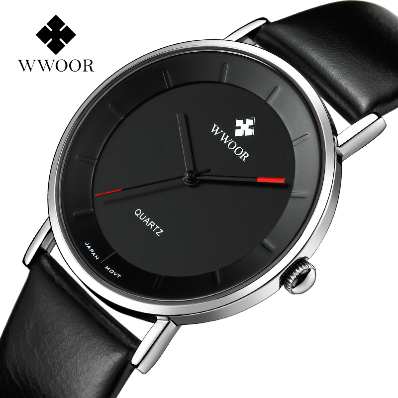 WWOOR Wrist Watch Men Top Brand Luxury Famous Male Clock Quartz Watch Wristwatch Quartz-watch Relogio Masculino WR8827S-Black classic simple star women watch men top famous luxury brand quartz watch leather student watches for loves relogio feminino