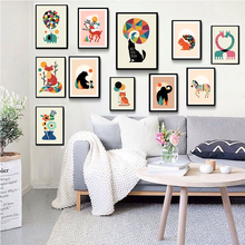 CLSTROSE Cartoon Animal Poster Elephant Giraffe Bear Dog Cat Little Sheep Nordic Baby Room Wall Art Picture Home Decor Painting
