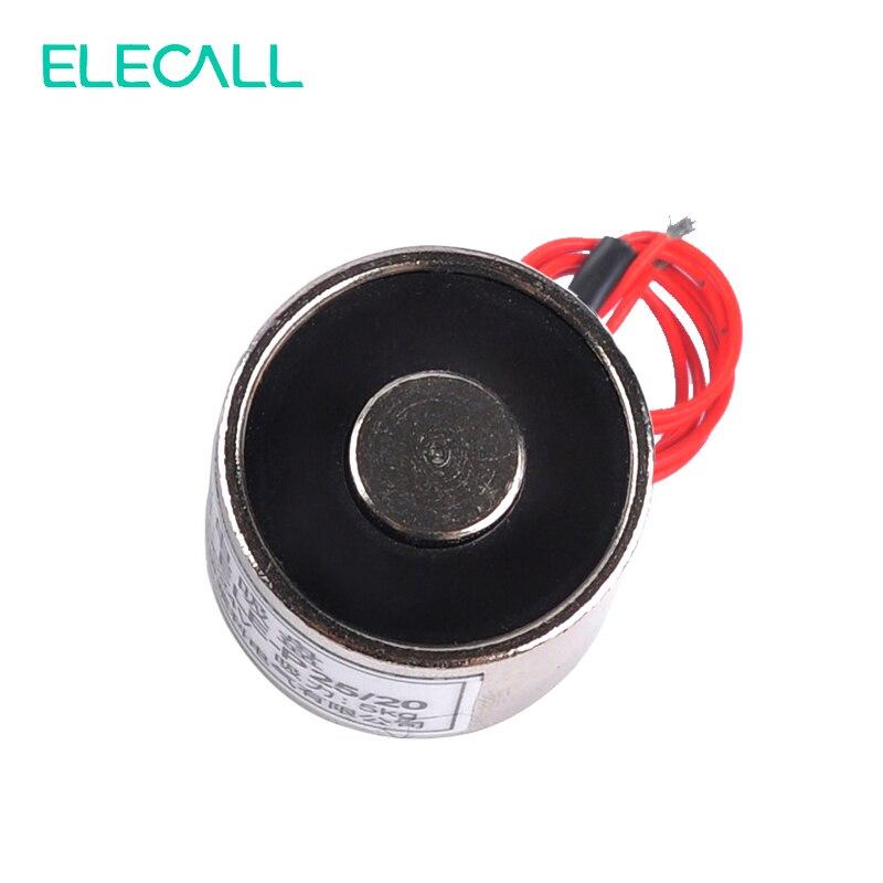 12V DC Holding Electric Magnet Lifting 5KG Solenoid Electromagnet ELE-P25/20