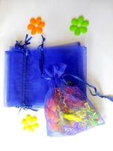 500 個オーガンジー袋 20 × 30 センチメートル巾着ポーチ結婚式/誕生日/クリスマスギフトジュエリー包装ディスプレイバッグ収納袋