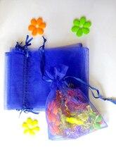 500 Uds. Bolsa de Organza 20x30cm bolsa con cordón bolsas de regalo de boda/cumpleaños/Navidad para embalaje de joyas bolsa de almacenamiento de bolsas