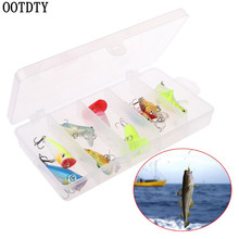 OOTDTY 10 Pcs/box Small Mini Fish Soft Bait Bionic Stereoscopic Insect Fake Baits Fishing Auxiliary Accessories Lure Tool