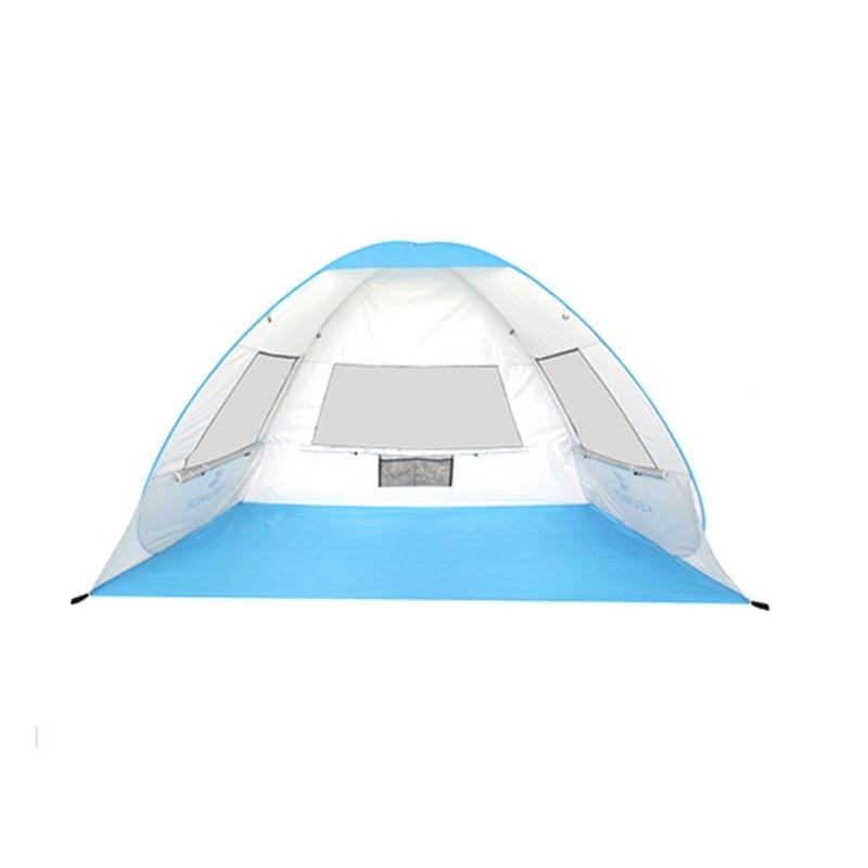 Super vendre-KEUMER automatique instantané Pop-Up tente de plage léger 1-2 personnes tente extérieure Protection UV Camping tente Cabana Su