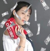 2018 New Money Bulb Paper Playing Toys Money Spray Light Toy For Child Adult Birthday Gift Plastic Make It Money Machine