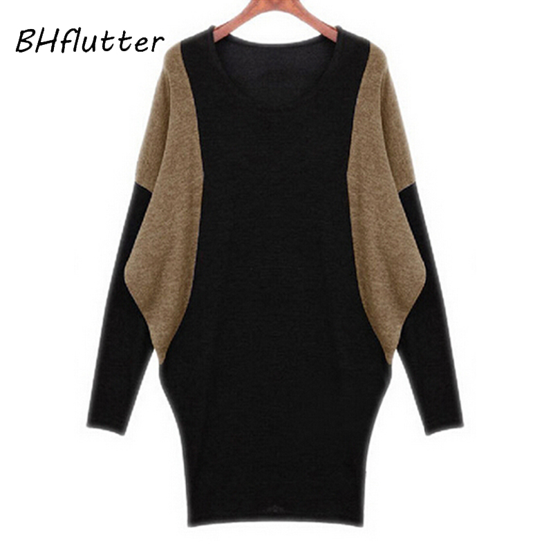 BHflutter Women Sweater New 2018 Long Sleeve Batwing Computer Knitting Sweaters Women's Autumn Winter Pullovers Casual Tops Tees