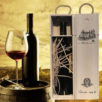 Fabrikanten Maatwerk Groothandel Wijn Tassen Hoogwaardig Platane Hout Rode Wijn Carrier Gift Verpakking met Lederen Tote