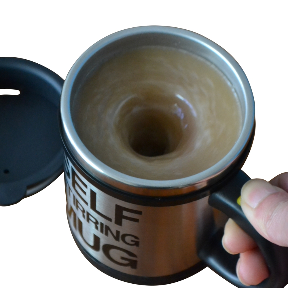 300ML Magnetically Mixing MUG Drinking Drinkware Stainless Steel Electric Pressing Button Self Stirring Coffee Tea Mixer
