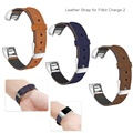 "Premium Leather Soft Replacement Watch Strap Band for Fitbit Charge 2 Tracker Small Large(5.5""-8.1"")"