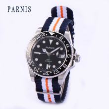 2017 Luxury Brand PARNIS Men Mechanical Mens Watch Casual Sports Army Military Canvas Strap Wrist Watch Relogis Masculino