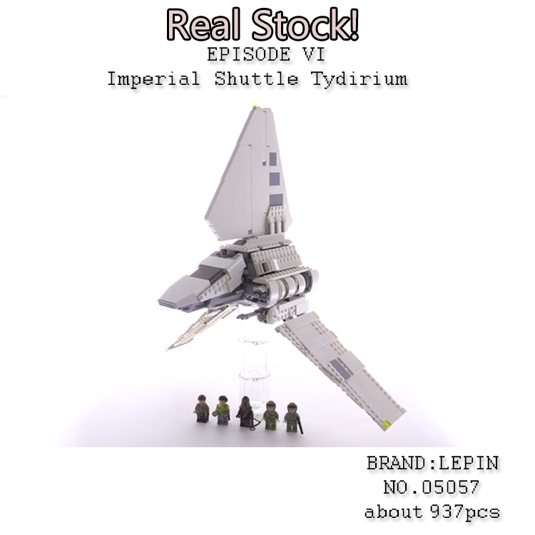 Lepin 05057 937Pcs New Star War Series The Imperial Shuttle Set Model Building Kit Blocks Bricks Toy Compatible Gift With 75094 new 863pcs lepin 05049 star war series 75156 the imperial shuttle building blocks bricks toys compatible with lego gift kid set