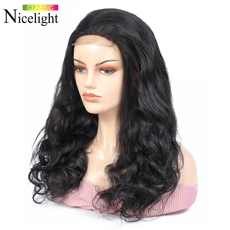 Body Wave Wig Lace Human Hair Closure Wigs Lace 8-26 Inch 4X4 Lace Closure Wig Malaysian Wig Nicelight Remy Hair Wigs