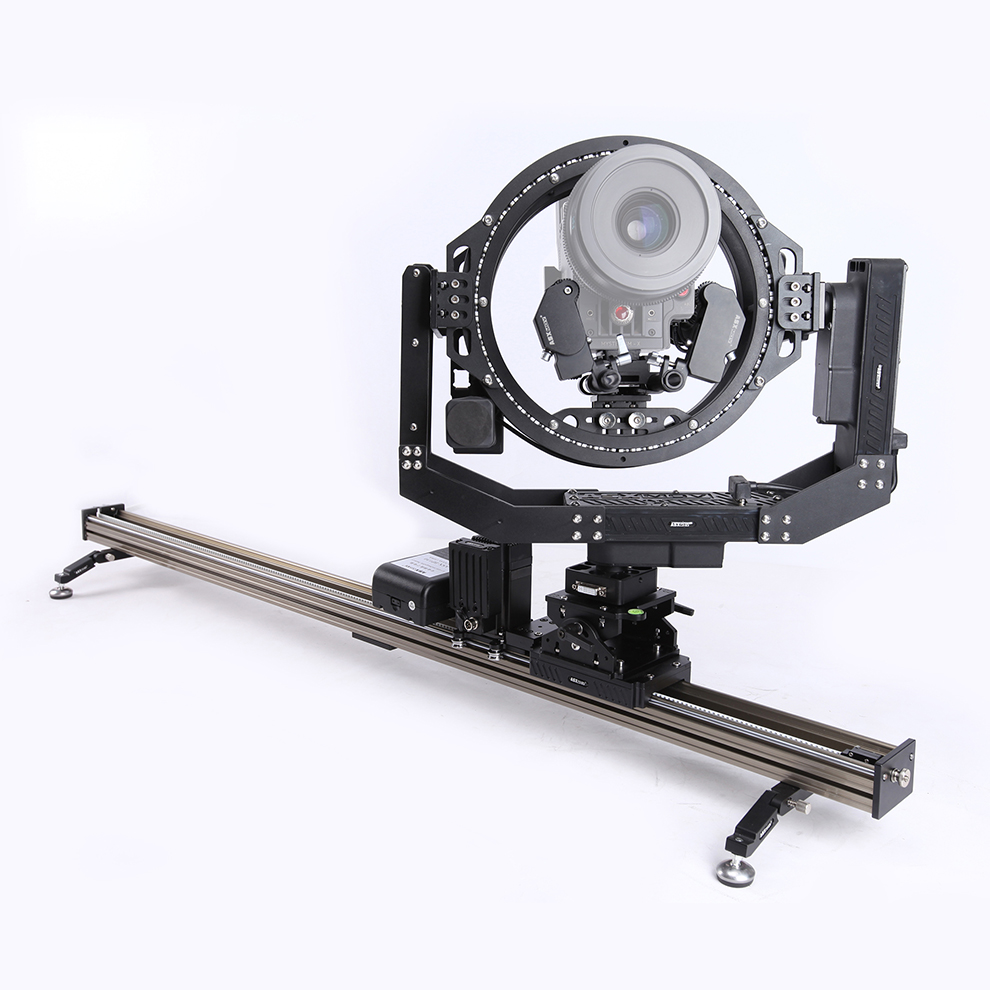 6 axis pan-shot timelapse video DSLR camera track dolly slider camera slider with 360 degree 3D head rotation for film equipment