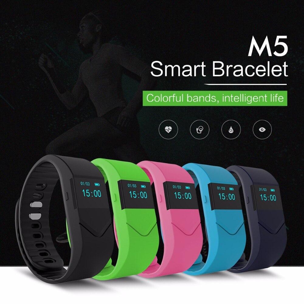 imágenes para Nuevo Podómetro y monitor de presión Arterial de la Salud Inteligente M5 Inteligente pulsera pulsómetro Pulsera Inteligente