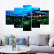 Kyoto Japan Scenery Tree On The Attic Posters And Prints Wall Picture For Living Room Art Decoration Canvas Painting