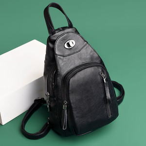Image 3 - Casual Backpack Female Brand Leather Womens Backpack Designer Shoulder Bags for Women 2018 Travel Backbag Chest Bag Mochila