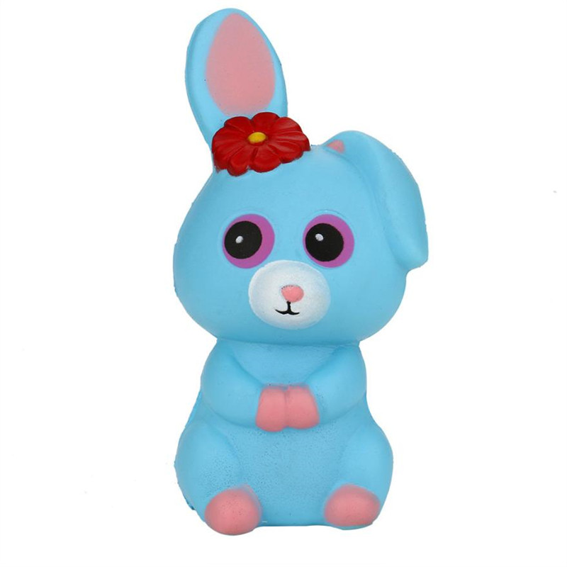 Cute Jumbo Cartoon Rabbit Bunny Squishy Slow Rising Straps Soft Squeeze Cream Scented Bread Cake Animal Gift Kid Fun Toy #40