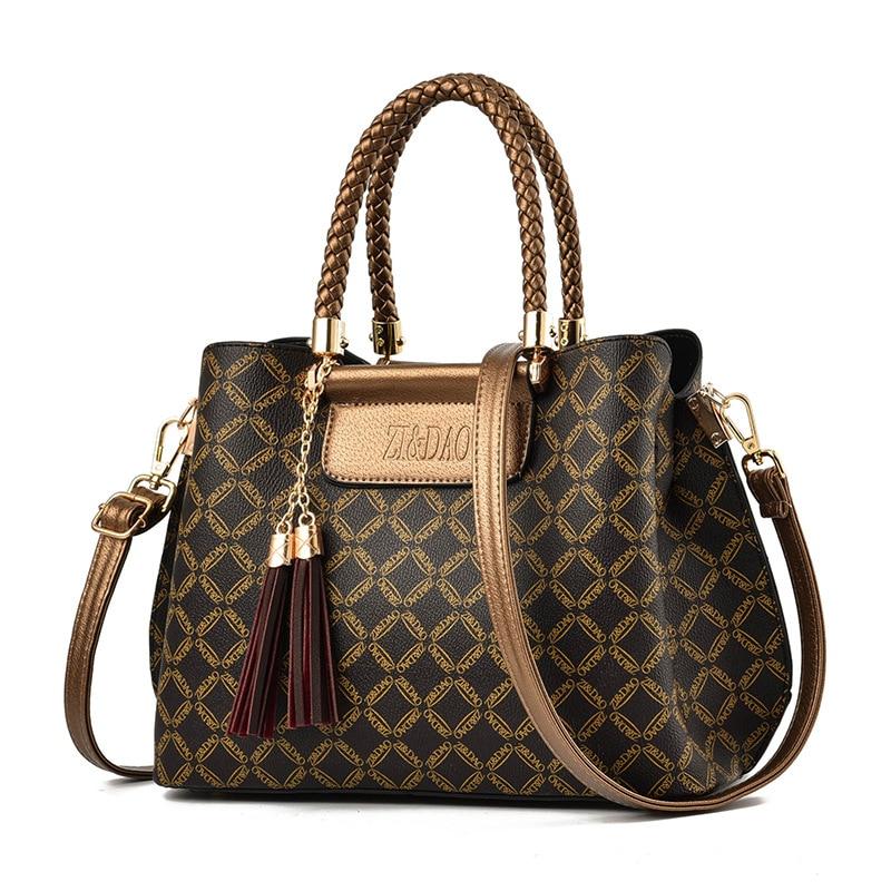 Luxury Handbags Women Bags Designer Women Leather Handbags Summer Bags Set Top-handle Shoulder Bags Women Bag Female(China)