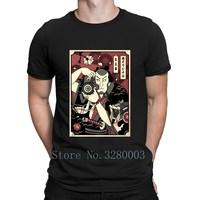 Фотограф самурая Для мужчин картины японской футболка Знаменитые Картины футболка весна уникальный S-Xxxl Комфортная рубашка