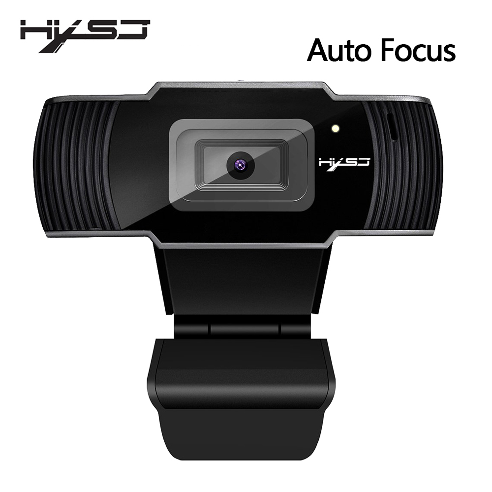 HXSJ new webcam HD1080P 30FPS auto focus computer camera USB sound absorbing microphone for laptops web