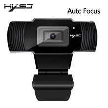HXSJ เว็บแคมเว็บแคม HD1080P 30FPS Auto Focus คอมพิวเตอร์ USB ไมโครโฟนดูดซับเสียงสำหรับแล็ปท็อป Web CAM