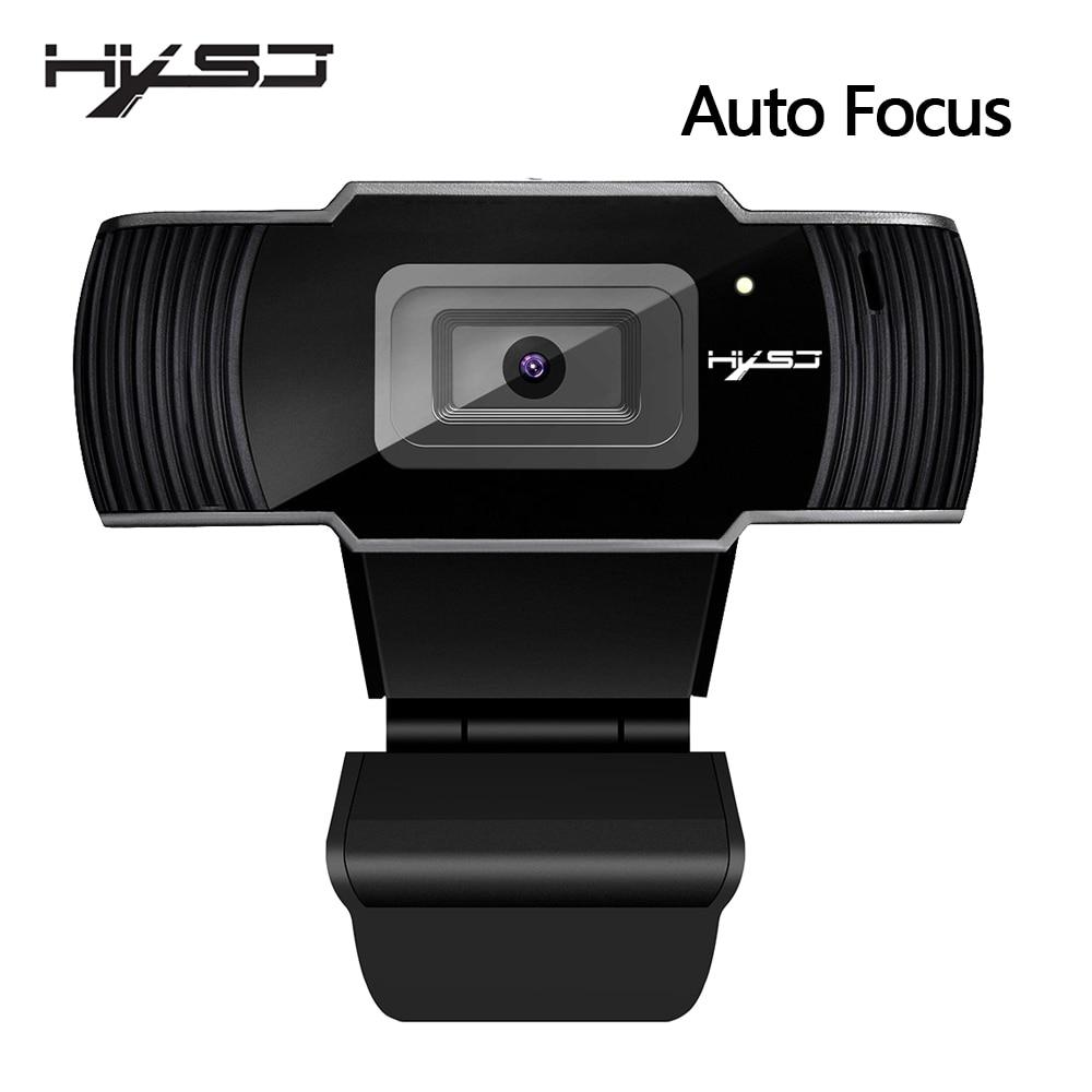 лучшая цена HXSJ new webcam HD1080P 30FPS auto focus computer camera USB sound-absorbing microphone for laptops web cam