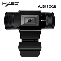 HXSJ new webcam HD1080P 30FPS auto focus computer camera USB sound absorbing microphone for laptops web cam