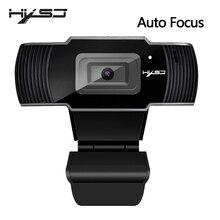 HXSJ nouvelle webcam HD1080P 30FPS auto focus caméra dordinateur USB microphone absorbant le son pour ordinateurs portables web cam
