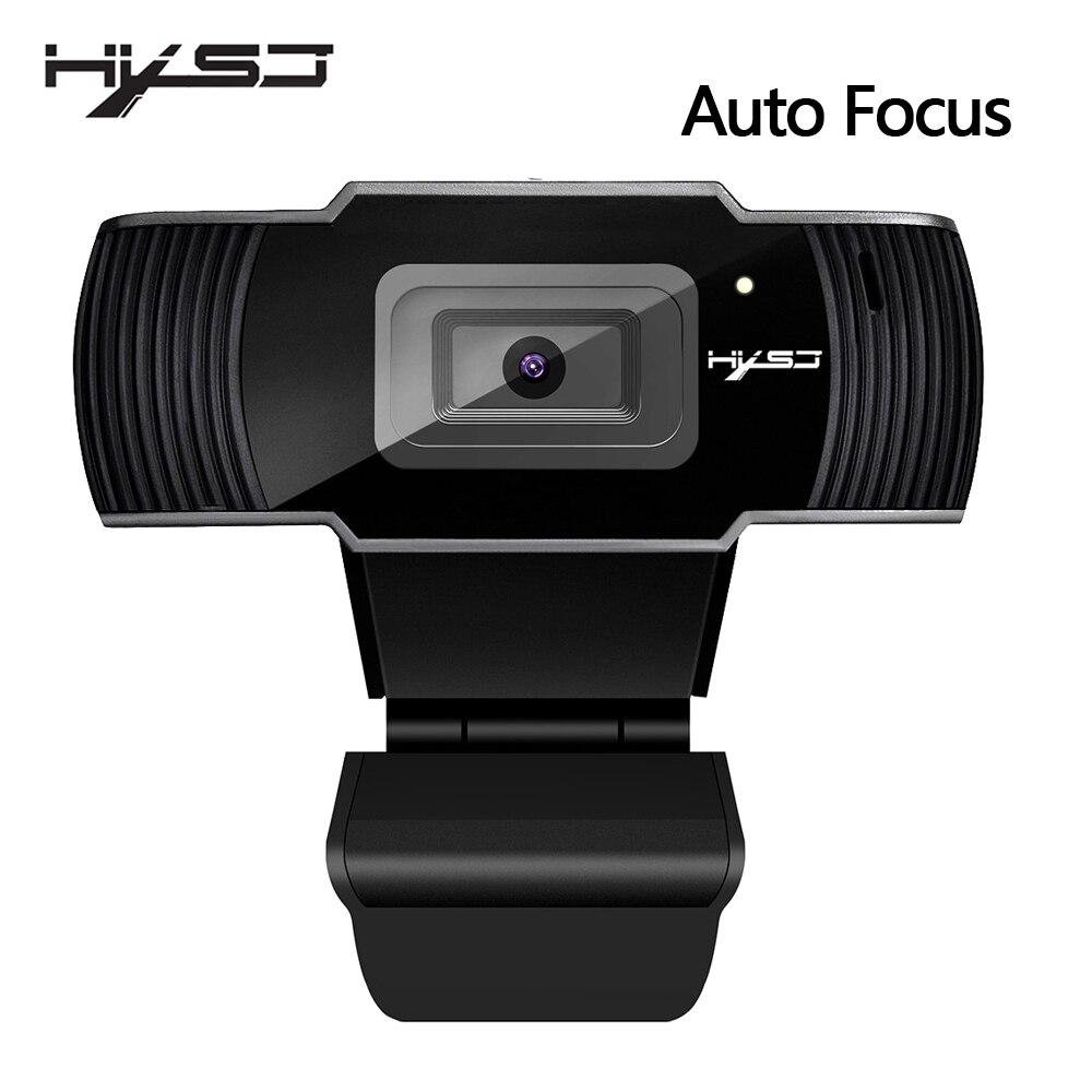 HXSJ nouvelle webcam HD1080P 30FPS auto focus ordinateur caméra USB microphone insonorisant pour ordinateurs portables web cam